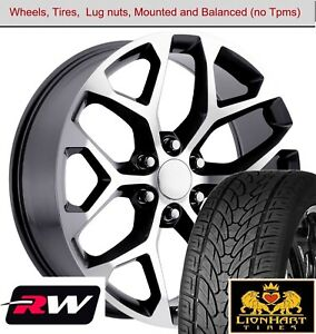 22 Inch Wheels And Tires For Gmc Sierra Replica 5668 Gunmetal Machined Rims