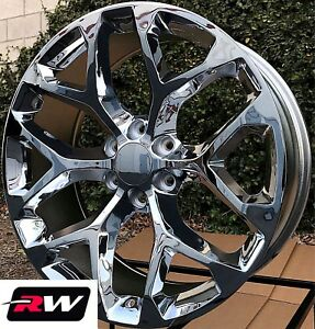 20 X9 Inch Rw 5668 Wheels For Chevy Truck Chrome Rims 6x139 7 6x5 50 24 Set