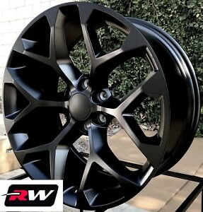 24 X10 Inch Chevy Tahoe Factory Style Wheels Snowflake Rims Satin Black