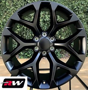 20 X9 Inch Rw 5668 Wheels For Chevy Truck Satin Black Rims 6x139 7 6x5 50 Set