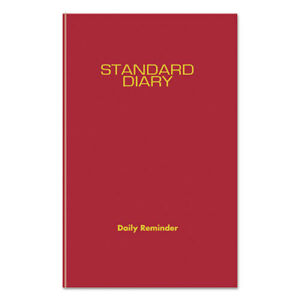 Standard Diary Recycled Daily Reminder Red 5 3 4 X 8 1 4 2019