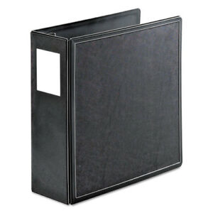 Superlife Easy Open Locking Slant d Ring Binder 4 Cap 11 X 8 1 2 Black