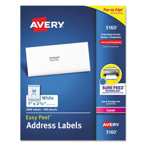 Easy Peel White Address Labels W Sure Feed Technology Laser Printers 1 X