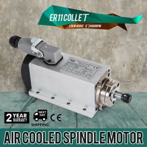 Cnc 1 5kw Air Cooled Spindle Motor Er11 24000rpm Impact Structure Precise Newest