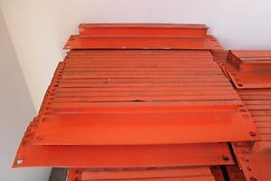 35 Pcs Of Pallet Rack 18 Row Spacers Orange Color In Used Condition