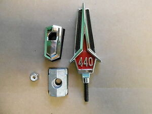Mopar 67 Gtx 440 Hood Ornament 1967 New