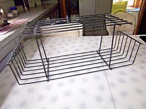 Unusual Mid Century Modern Metal Wall Rack Shelf Minimalist Rod Iron Display