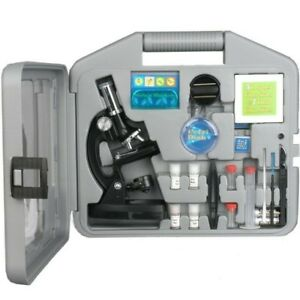 120x 240x 300x 480x 600x 1200x Kids Metal Arm Compound Biological Microscope Kit