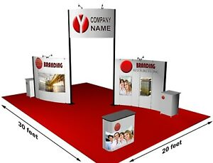 Trade Show Booth Display Custom 20 x30 Modular