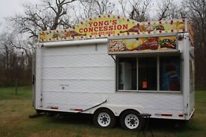 18 Food Concession Trailer And Equipment