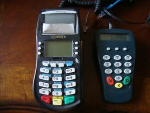 Hypercom Optimum T4220 Credit Card Machine W Pin Pad P1300 Read Description