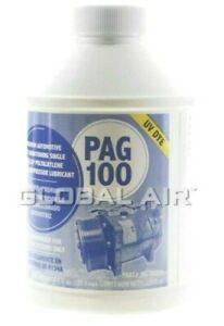 A C Compressor Oil 8oz Pag Oil 100 With Uv Dye A C System Oil For R 134a