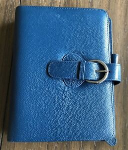 Franklin Covey Ava Teal Classic Leather Planner