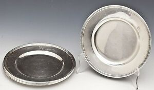 Set 6 Pc International Sterling Silver Bread Dessert Plates Chargers H413