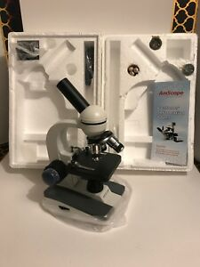 Amscope 40x 1000x All metal Optical Lens Compound Microscope Student Home School