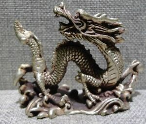 Chinese Old Bronze Copper Dragon Statue