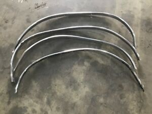 1966 1969 Buick Riviera Stainless Steel Wheel Opening Molding Set Of 4 Chrome