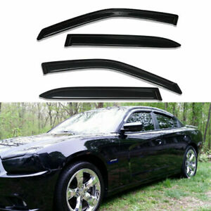 For 2011 2019 Dodge Charger 4pc Smoke Window Visors Sun Rain Guards Vent Shade