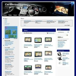 Established Automotive Car Electronics Store Online Business Website For Sale