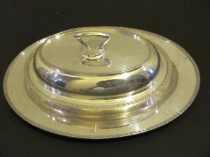 3 Piece Silver Plate W P N S Matching Serving Tray Bowl Cover Made In England