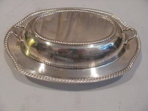 2 Piece Silver Plate Kent Rogers 8012 Matching Serving Bowl Cover Bowl