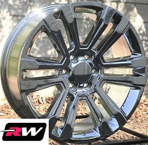 22 X9 Inch Rw 2017 2018 Denali Wheels For Chevy Truck Chrome Rims 6x139 7 Set