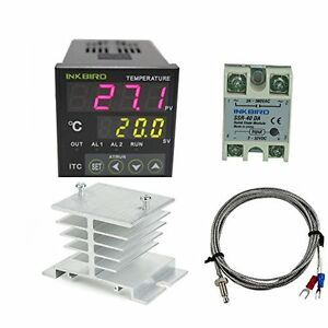 Ac Hvac Controls 100 220v Itc 100vh Outlet Digital Pid Thermostat Temperature Da