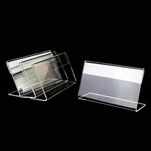 50pcs Place Cards Card Holders Mini Sign Display Price Tag Label Counter Top X
