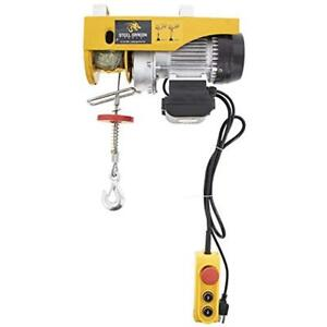 440 Hoists Lbs Mini Electric Wire Cable Overhead Crane Lift With 110 V Motor And