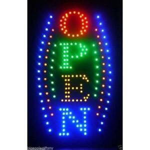 Large Store Signs Vertical Animated Business Led Open W Motion On off Switch X