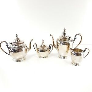 Derby Silver Plate Tea Set Derby S And P Co International W M Mount