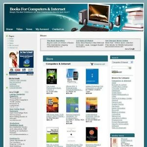 Profitable Computers Internet Book Business Website For Sale Free Domain Name
