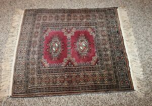 Vintage Handmade Small Persian Silk Kneeling Prayer Rug 24 X 30