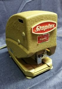 Vintage Staplex Sjm 1 Electric Desk Stapler Industrial Heavy Duty With Cord