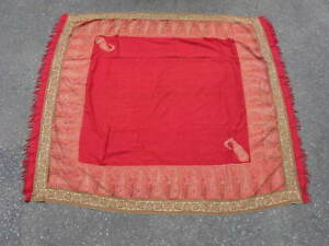 Antique Kashmir Shawl Hand Woven Twill Tapestry India Ca 1840 5 3x5 6 Red Kani