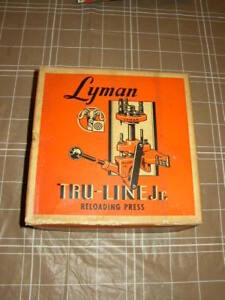 Vintage Lyman Tru-Line Jr Reloading Press in Box Manual Lymann reloading press