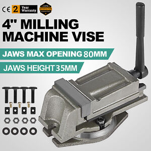 4 Precision Bench Lathe Milling Swivel Vice Base Drilling 360 Rotating Vice