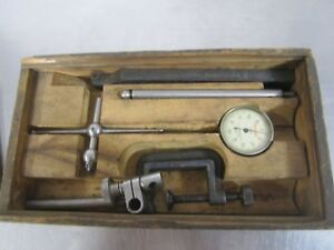 Vintage Starrett Dial Test Indicator Set 196 A With Case