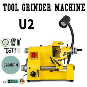 U2 Universal Tool Cutter Grinder Machine 100mm Grinding 3 Collets Lathe Tool