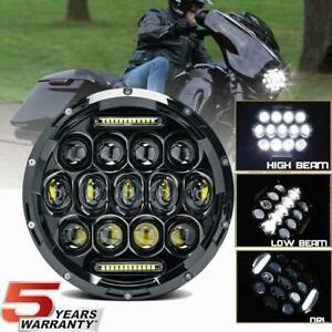 1x 390w 7 Motorcycle Headlight Cree Led Turn Signal Light For Harley Cafe Racer