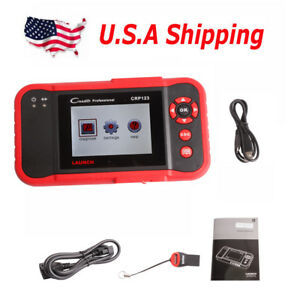Usa Shipping Launch X431 Crp123 Obd2 Diagnostic Scanner Abs Srs Multi languages