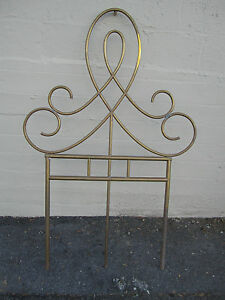 Unique Vintage Antique Brass Architectural Ornament Wall Garden D Cor Headboard