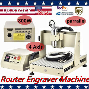 800w 3040 Cnc Router Engraver Engraving Milling Machine 800w Spindle Cutter Vfd