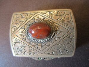 German 800 Silver Pill Box Vintage Or Antique Beautiful Design