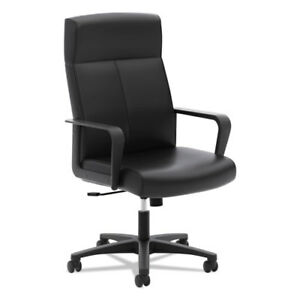 Hon Validate High back Executive Chair Softhread Leather Black Seat