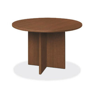 Hon Foundation Conference Table Round Flat Edge Profile X base 48