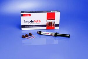 Medicept Implalute Implant Cement 5ml Mini mix Syringe 10 Mixing Tips