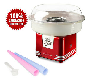 Electric Commercial Cotton Sugar free Candy Maker Retro Red Machine Kit Store Us