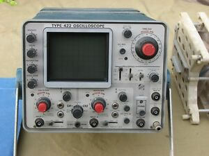 Vintage Tektronix 422 Scope Package With Rare Battery Option