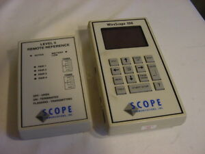 Scope Communications Wirescope 100 Level 5 Remote Reference